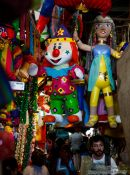 Travel photography:Piñatas for sale at Oaxaca market, Mexico