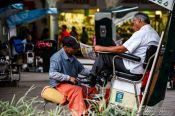 Travel photography:Oaxaca shoe polisher, Mexico