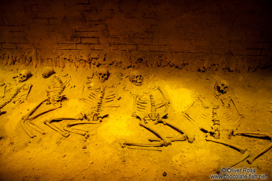 Human sacrifice took place at the Pyramid of the Feathered Serpent (on display at the Mexico City Anthropological Museum)