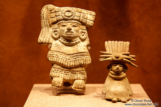 Small figures at the Mexico City Anthropological Museum
