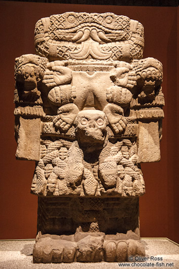 Statue of goddess Coatlicue at the Mexico City Anthropological Museum