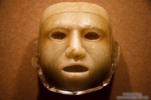 Alabaster face at the Mexico City Anthropological Museum