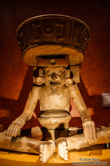 Sculpture of Dios Viejo (old god) at the Mexico City Anthropological Museum