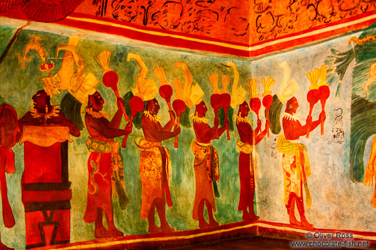 Representation of the Bonampac murals at the Mexico City Anthropological Museum