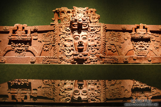 The Mascarón monumental from the Mayan period at the Mexico City Anthropological Museum