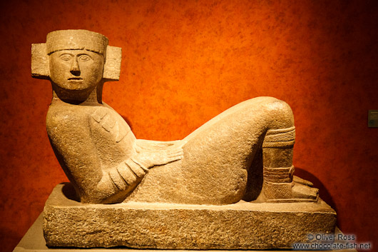 Sculpture of Chac Mool at the Mexico City Anthropological Museum
