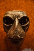 Travel photography:Mask at the Mexico City Anthropological Museum, Mexico