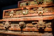 Travel photography:The Pyramid of the Feathered Serpent at the Mexico City Anthropological Museum, Mexico