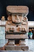Travel photography:Goddes Chalchiutlicue at the Mexico City Anthropological Museum, Mexico