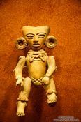 Travel photography:Small figure at the Mexico City Anthropological Museum, Mexico