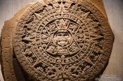Travel photography:The Stone of the Sun (Aztec Calendar) at the Mexico City Anthropological Museum, Mexico