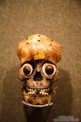 Travel photography:Ornate skull at the Mexico City Anthropological Museum, Mexico