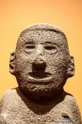 Travel photography:Sculpture at the Mexico City Anthropological Museum, Mexico