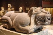 Travel photography:Sculpture of Ocelotl-Cuauhxicalli at the Mexico City Anthropological Museum, Mexico