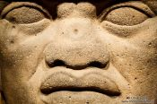 Travel photography:Olmec colossal head at the Mexico City Anthropological Museum, Mexico