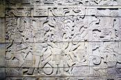 Travel photography:Stone carving at the Mexico City Anthropological Museum, Mexico