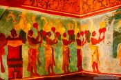 Travel photography:Representation of the Bonampac murals at the Mexico City Anthropological Museum, Mexico
