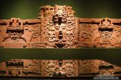Travel photography:The Mascarón monumental from the Mayan period at the Mexico City Anthropological Museum, Mexico