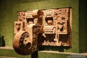 Travel photography:Mayan architectural element at the Mexico City Anthropological Museum, Mexico