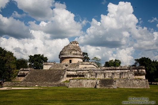 The ancient astronomical observatory at the Chichen Itza archeological site