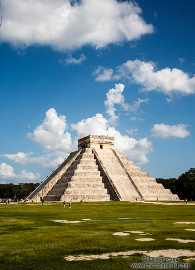 Central pyramid at the Chichen Itza archeological site