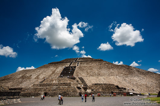 Sun pyramid at the Teotihuacan archeological site