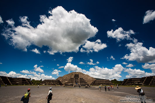 Moon pyramid at the Teotihuacan archeological site