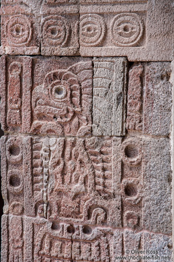 Stone carvings at the Teotihuacan archeological site