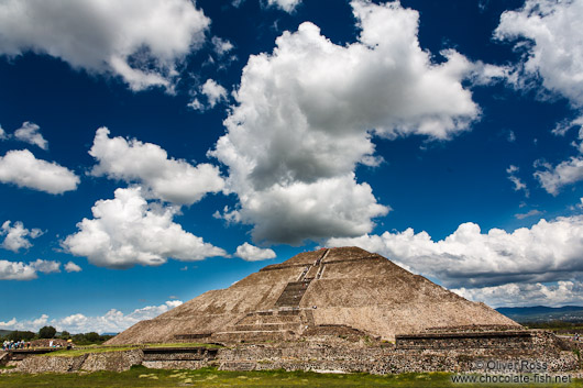 Pyramid of the sun at the Teotihuacan archeological site
