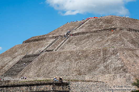 The pyramid of the sun at the Teotihuacan archeological site