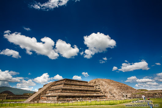 Temple of Quetzalcoatl at the Teotihuacan archeological site