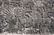 Travel photography:Stone carving at the Chichen Itza archeological site, Mexico