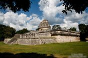 Travel photography:The ancient astronomical observatory at the Chichen Itza archeological site, Mexico