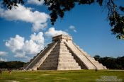 Travel photography:Central pyramid at the Chichen Itza archeological site, Mexico