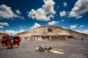 Travel photography:Sun pyramid at the Teotihuacan archeological site, Mexico