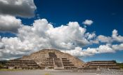 Travel photography:Pyramid of the moon at the Teotihuacan archeological site, Mexico