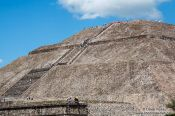Travel photography:The pyramid of the sun at the Teotihuacan archeological site, Mexico