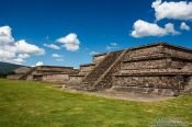 Travel photography:Buildings along the Avenue of the Dead at the Teotihuacan archeological site, Mexico