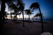 Travel photography:Cancun beach at sunset, Mexico