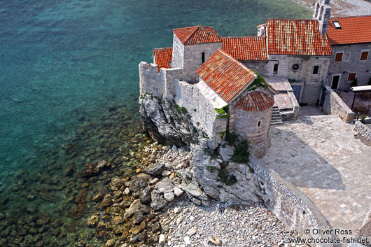 Houses inside the Budva fortress
