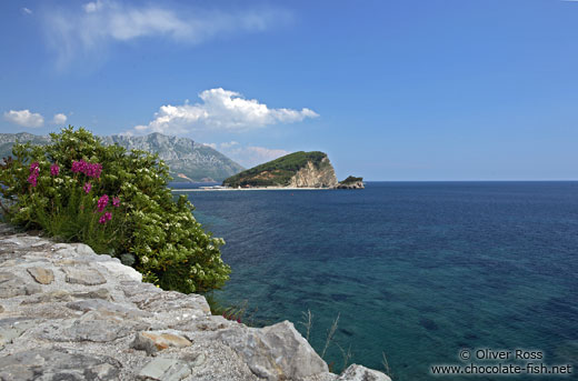 View from the castle walls in Budva