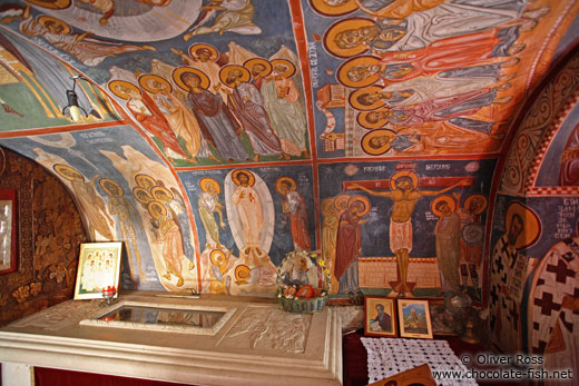 Crypt within the monastery in Cetinje