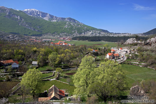 Landscape between Kotor and Lovcen National Park