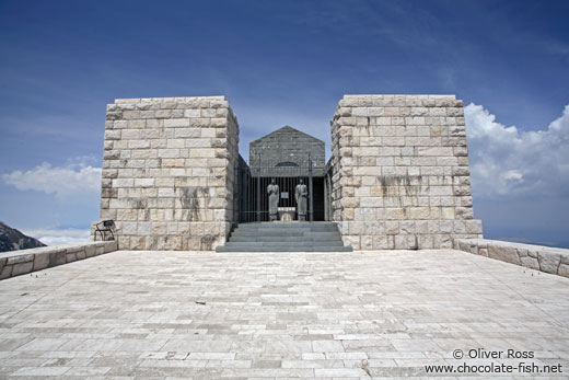 Njegoš-Mausoleum on top of the Mount Lovćen in Lovćen National Park