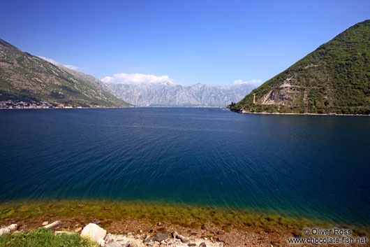 View of the Boka Kotorska bay near Perast