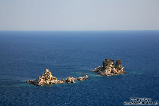 Islands with church off the Petrovac coast