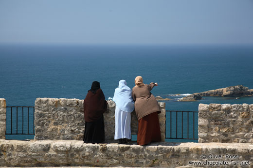 Three women enjoying the view from Ulcinj fortress