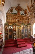 Travel photography:Main altar inside Cetinje monastery, Montenegro