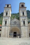 Travel photography:Church of Sveti Tripuna in Kotor, Montenegro