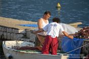 Travel photography:Fishermen in Perast, Montenegro